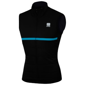 Sportful Giara Thermal Gilet - Black/Blue Denim