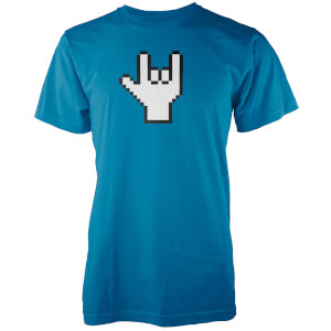 Pixel Rock Men's Blue T-Shirt