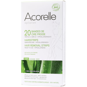 Acorelle Ready to Use Aloe Vera and Beeswax Leg Strips paski do depilacji nóg – 20 pasków