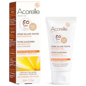 Acorelle Organic Tinted SPF50 Sunscreen - Light 50ml