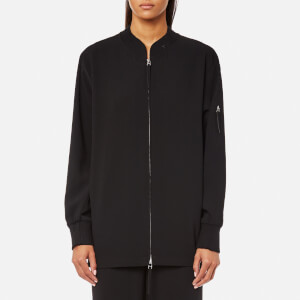 T by Alexander Wang Women's Satin Back Crepe Welded Bomber Jacket - Black