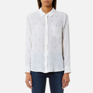 Rails Women's Kate Rainbow Pineapple Print Shirt - White