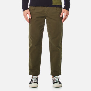 Folk Men's Relaxed Fit Trousers - Military Green