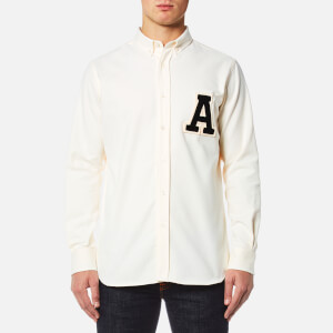 AMI Men's A' Patch Shirt - White
