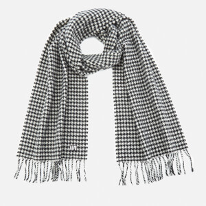 AMI Men's Echarpe Tissee Scarf - Black/White