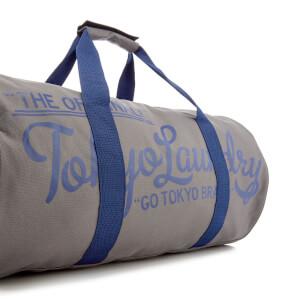 Tokyo Laundry Men's Gym Bag - Dorean Gray/Sapphire: Image 3