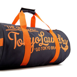 Tokyo Laundry Men's Gym Bag - Charcoal/Sunset Orange: Image 3