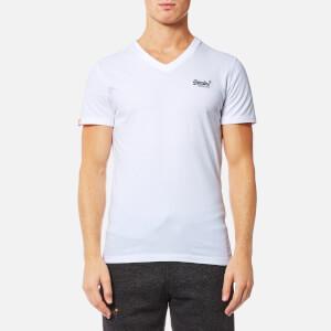 Superdry Men's Orange Label Vintage Embroidered V Neck T-Shirt - Optic White
