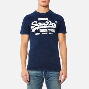 Superdry Men's Vintage Logo Indigo T-Shirt - Worn Indigo