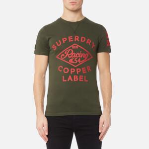 Superdry Men's Copper Label Café Race T-Shirt - Surplus Goods Khaki
