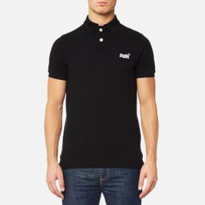 Superdry Men's Classic Pique Polo Shirt - Black