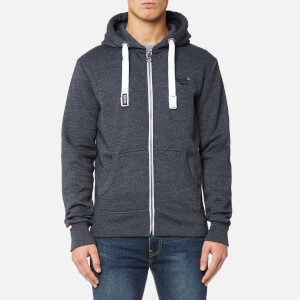 Superdry Men's Orange Label Zip Hoody - Navy Grit