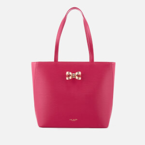 Ted Baker Women's Larah Looped Bow Shopper Tote Bag - Deep Pink