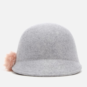 Ted Baker Women's Adabel Faux Fur Pom Pom Felt Hat - Light Grey