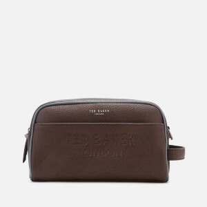 Ted Baker Men's Lockout Embossed Wash Bag - Chocolate