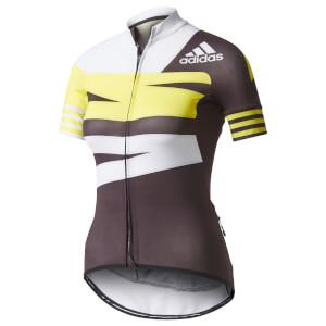 adidas Women's Adistar Jersey - Black/Yellow/White