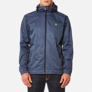 Lyle & Scott Men's Marl Zip Through Hooded Jacket - Ink Blue Marl
