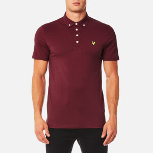Lyle & Scott Men's Woven Collar Polo Shirt - Claret Jug
