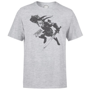T-Shirt Homme Nintendo Legend Of Zelda Link - Gris Clair