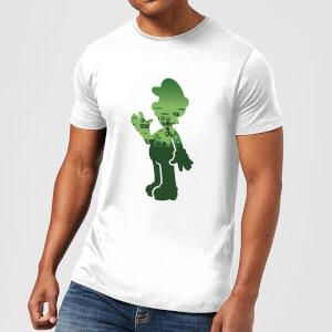 Nintendo Super Mario Luigi Silhouette Men's White T-Shirt