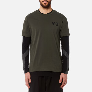 Y-3 Men's Short Sleeve Crew Neck Front T-Shirt - Black Olive