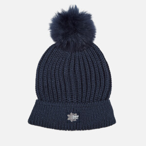 Superdry Women's Aries Sparkle Bobble Hat - Navy