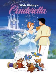 Affiche sur Toile Cendrillon Disney - 30 cm x 40 cm