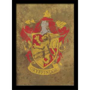 Harry Potter Gryffindor Crest Framed 30 x 40cm Print