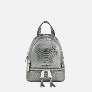 MICHAEL MICHAEL KORS Women's Rhea Zip Extra Small Messenger Backpack - Pewter