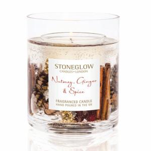 Stoneglow Nutmeg and Ginger Gel Vase Candle