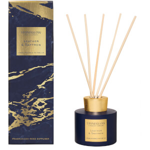 Stoneglow Luna Collection Leather and Saffron Reed Diffuser