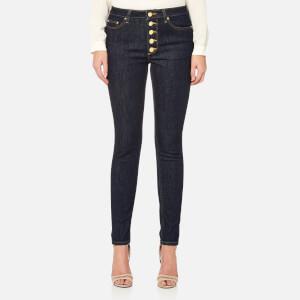 MICHAEL MICHAEL KORS Women's Button Front High Waist Skinny Jeans - Indigo