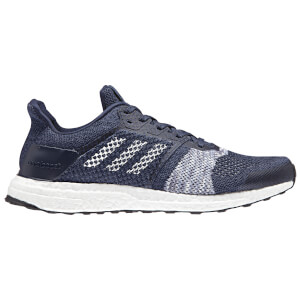 adidas Men's Ultra Boost ST Running Shoes - White/Navy