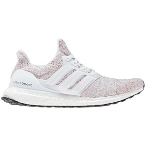 adidas Men's Ultra Boost Running Shoes - White/Red