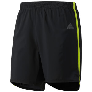 adidas Men's Response Running Shorts - Black/Yellow
