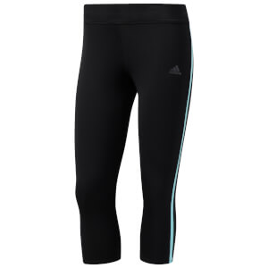 adidas Women's Response 3/4 Running Tights - Black/Blue