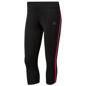 adidas Women's Response 3/4 Running Tights - Black/Pink
