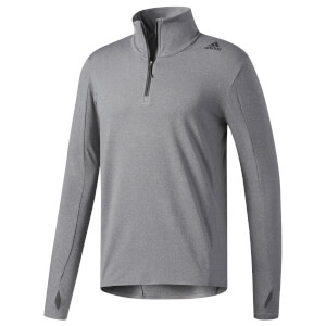 adidas Men's Supernova 1/4 Zip Long Sleeved Running Top - Black