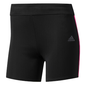 adidas Women's Response Fitted Running Shorts - Black/Pink