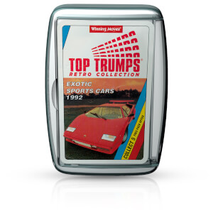 Top Trumps Card Game - Exotic Sports Cars Retro Edition