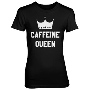 Caffeine Queen Women's Black T-Shirt
