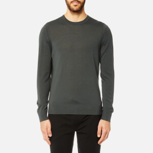 Michael Kors Men's Merino 14GG Crew Neck Long Sleeve Sweatshirt - Cedar Green