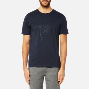Michael Kors Men's New York Map Logo Graphic Short Sleeve T-Shirt - Midnight