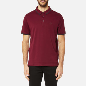 Michael Kors Men's Greenwich Logo Jacquard Short Sleeve Polo Shirt - Chianti