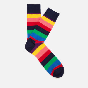 Happy Socks Mens Stripe Socks - Multi - UK 7.5-11.5