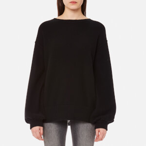Helmut Lang Women's Balloon Sleeve Pullover Jumper - Black