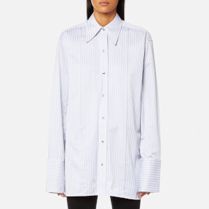 Helmut Lang Women's Stripe Long Shirt - Grey Multi