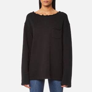 Helmut Lang Women's Raw Detail Sweatshirt - Black