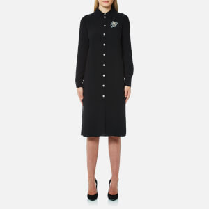 Versus Versace Women's Long Shirt Dress - Black