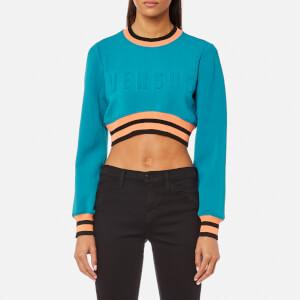 Versus Versace Women's Cropped Logo Sweatshirt - Blue